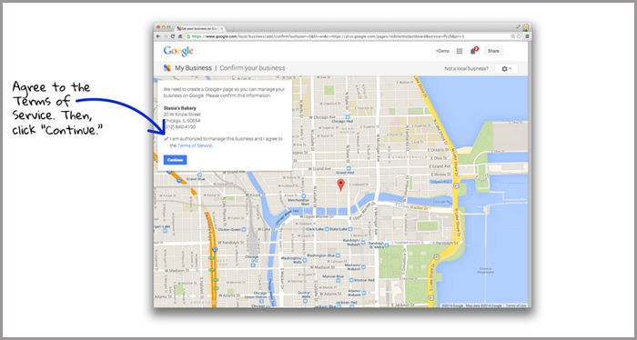 google business pages - confirm