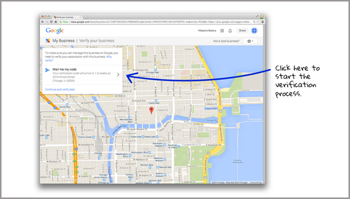 google business pages - verify