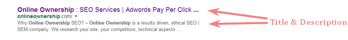 Local SEO - Title & Description