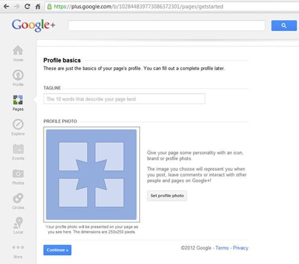 Google+ Page profile basics