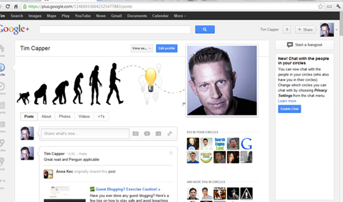 Google+ Personal Page