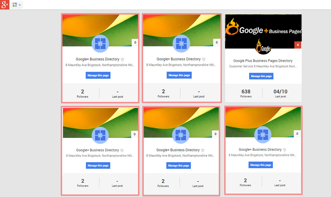 Multiple Google+ Pages