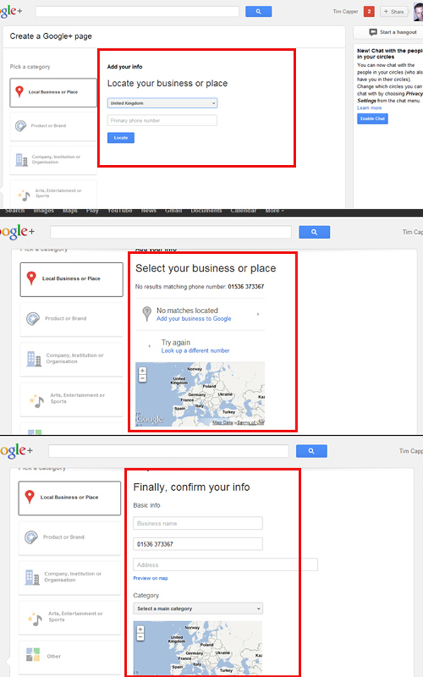Setting up Google+ Local Page