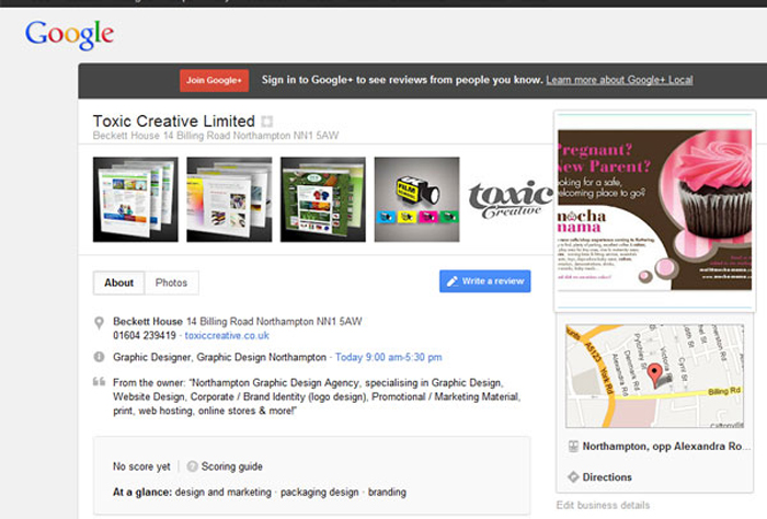 google+ business page new