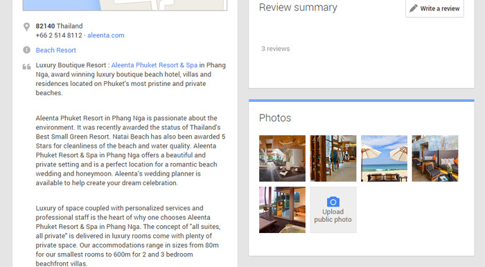 Fill in your Google Local Business Information
