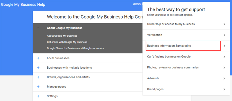 Report Duplicate Google Business Information