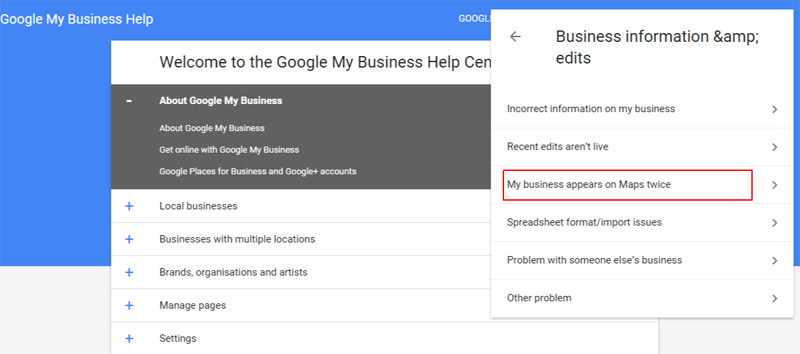 Report Duplicate Google Business on Map