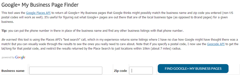 Local citation resource - google business pages
