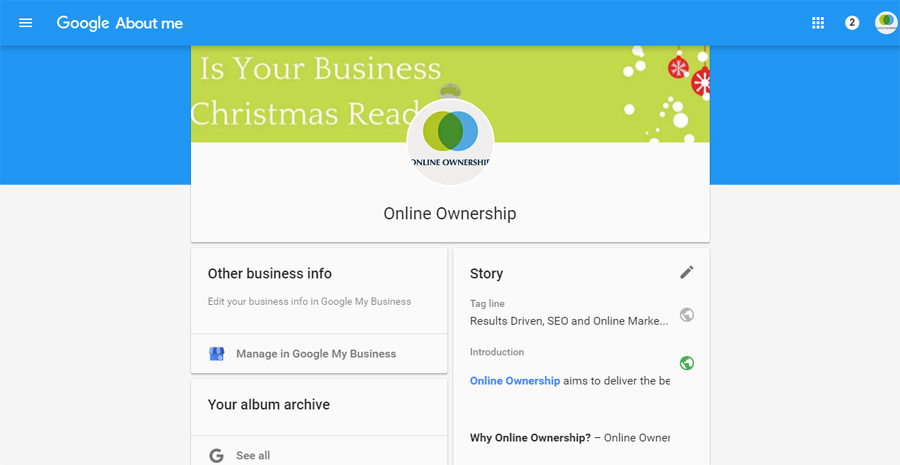 Make Quick edits to Google Brand and Google Business Pages