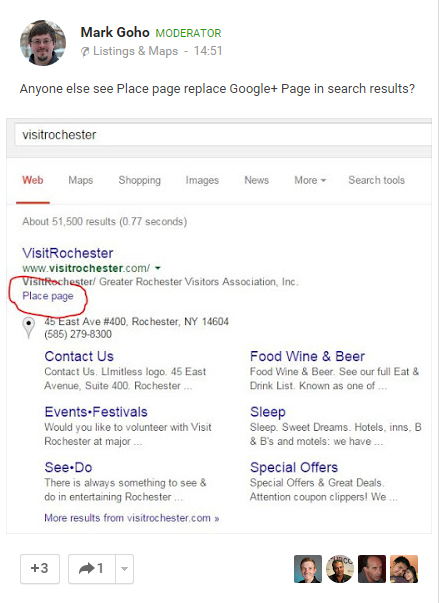 Closed Business Page SERP Snippet Change