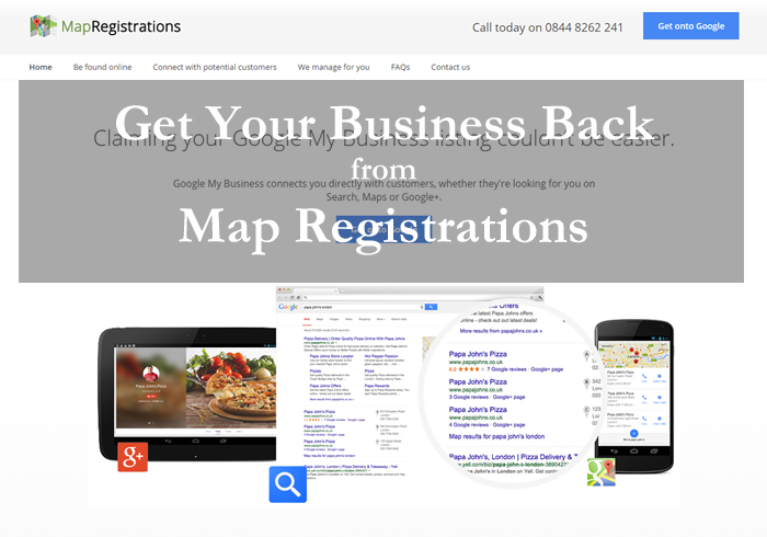 Get Business Back from Map Registrations