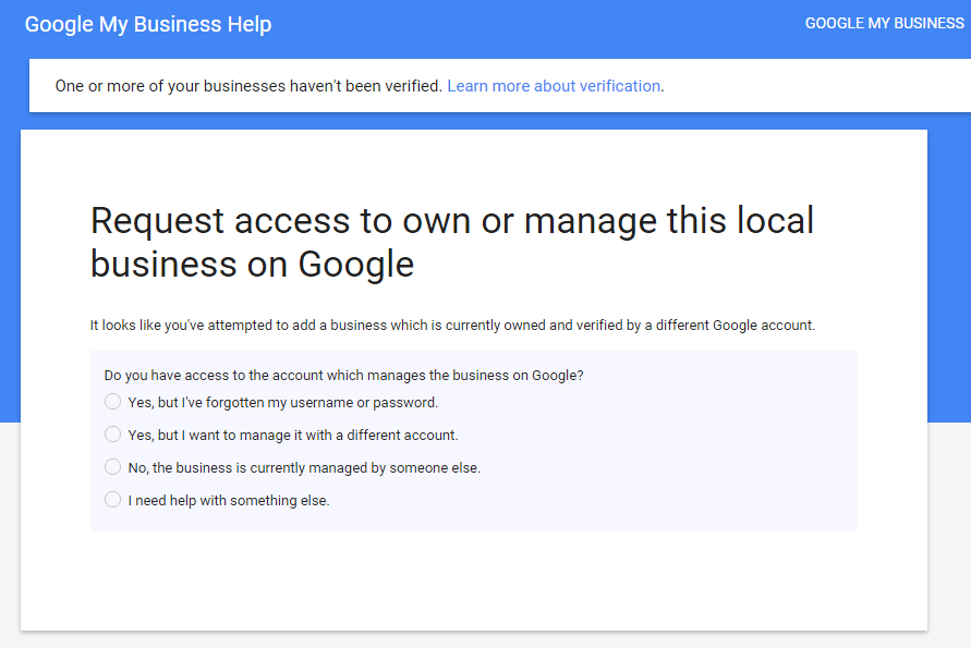 how to change ownership in google business