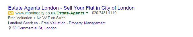 Business Location in Adwords
