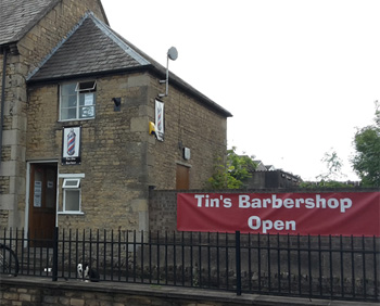 Tin's Barbershop in Corby