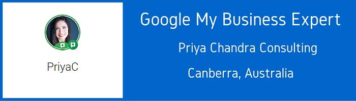 Google MY Business Expert - Priya Chandra
