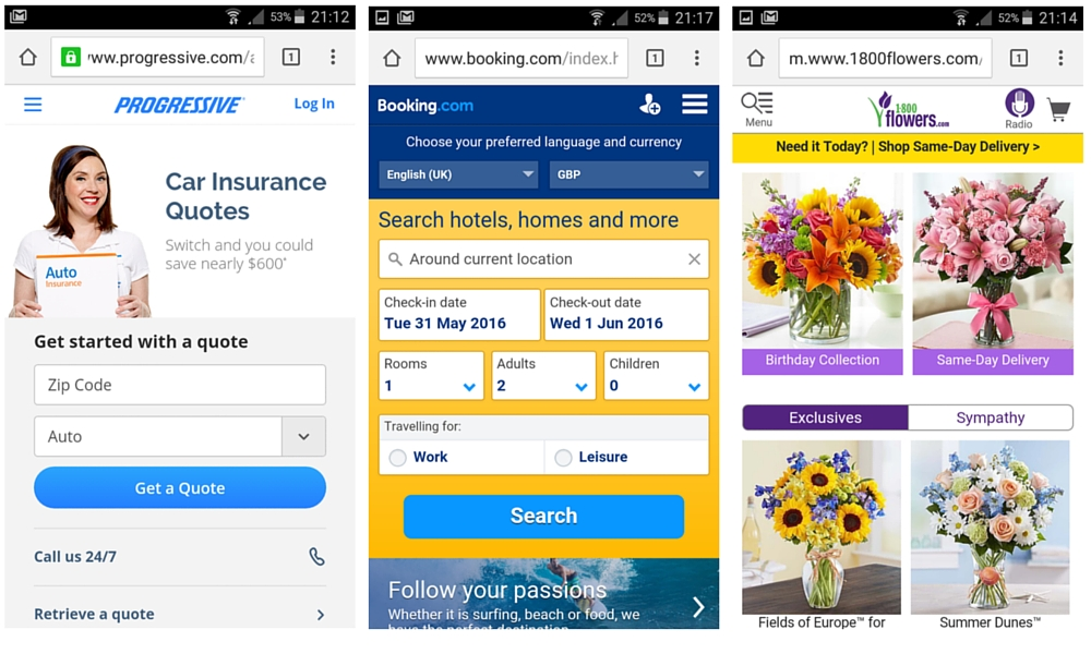 Mobile Site Homepage and Navigation Best Practice
