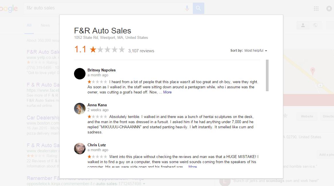 Fake Reviews - Google My Business