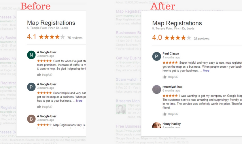 Google Removes Fake Reviews from Map Registrations Leeds