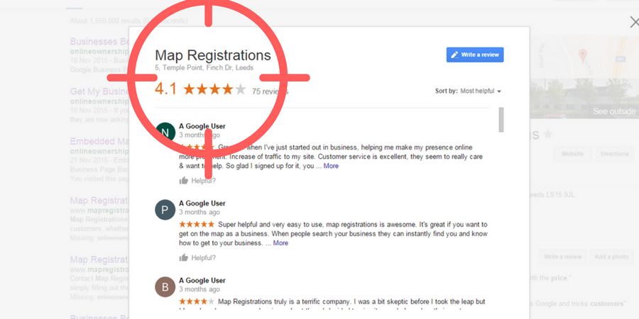 Map Registrations Fake Reviews
