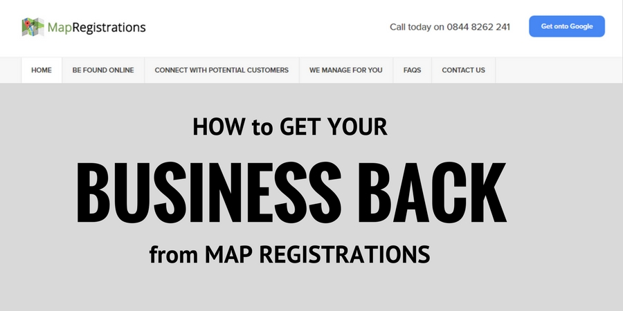 Get your business listing back from map registrations
