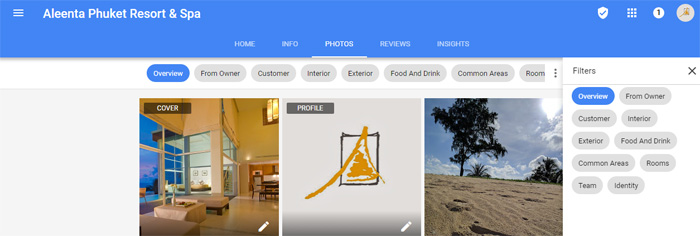 New Google business listings photo layout