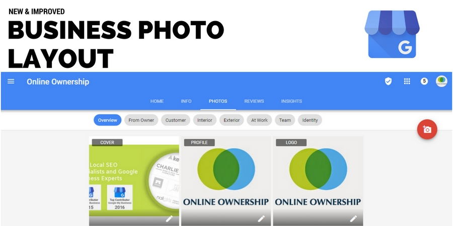 New Photo Layout for Google Business Listings