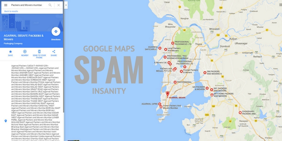 Google Maps and Google Business Listing Spam Insanity