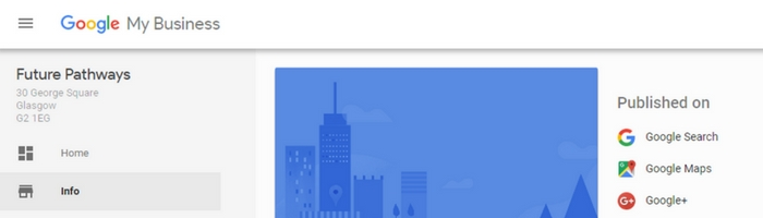 G+ Icon Enabled in Google Business Dashboard