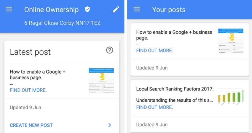 Create a Google Post in Google My Business Mobile App