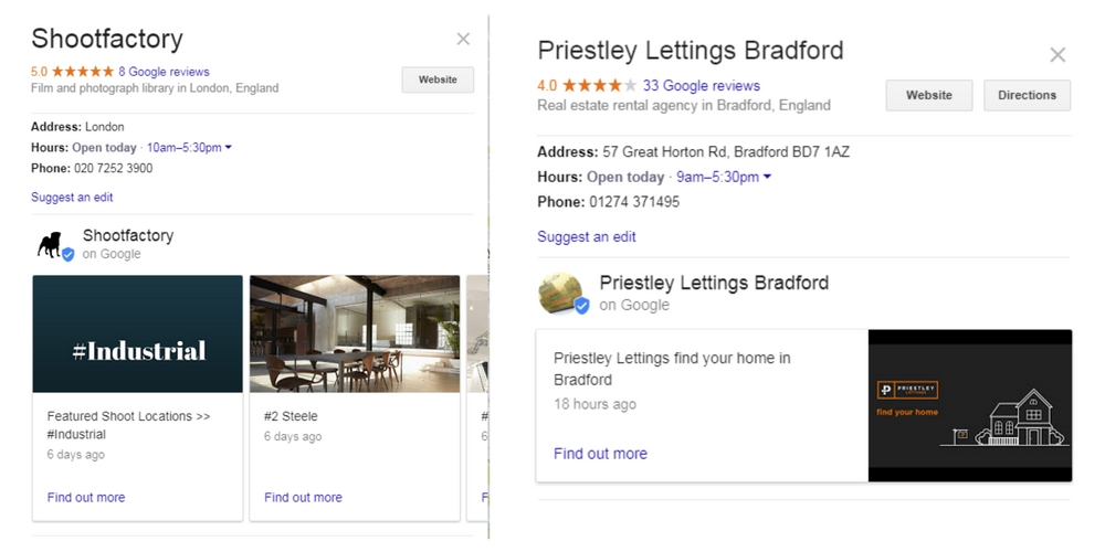 Google Posts Displayed in Maps - Online Ownership
