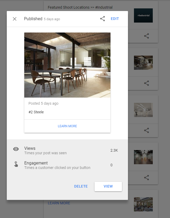 Google Posts Insights & Engagement - Online Ownership
