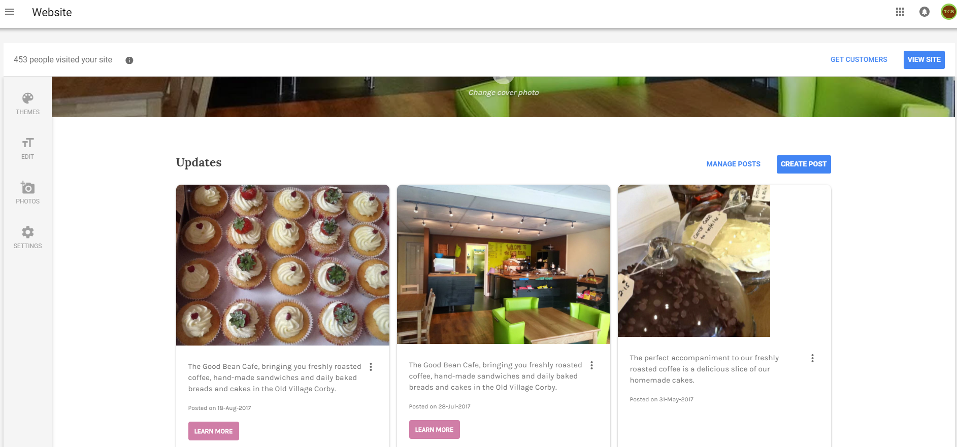 Google Posts on Google Website via the Google My Business Account - Online Ownership