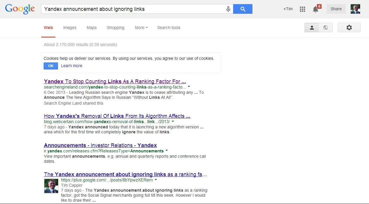 Personalised Search Results