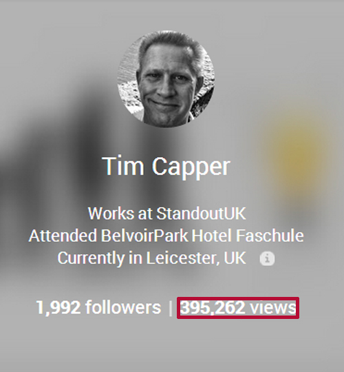 Google+ Profile View Count