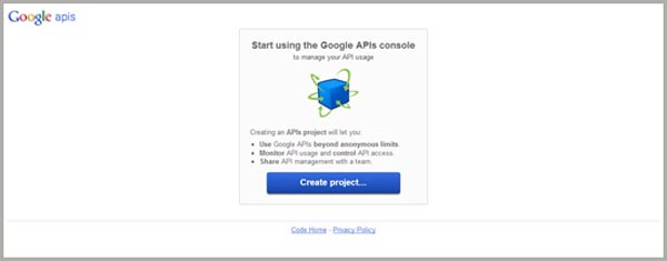 Google API Console for Interactive Posts