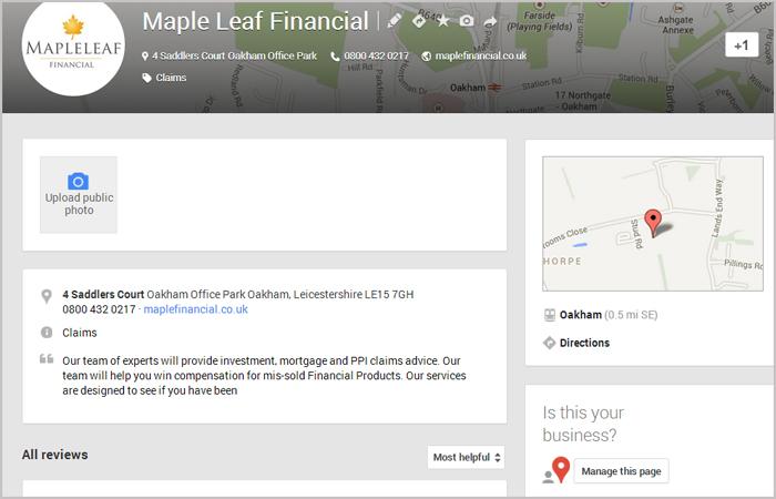 streamlined google+ local
