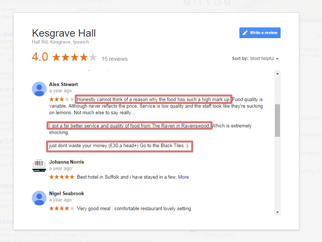 Google Business Reviews Bug