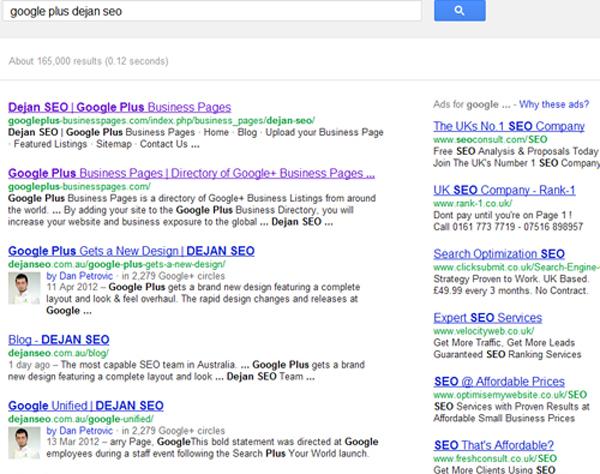 Google Plus Dejan SEO