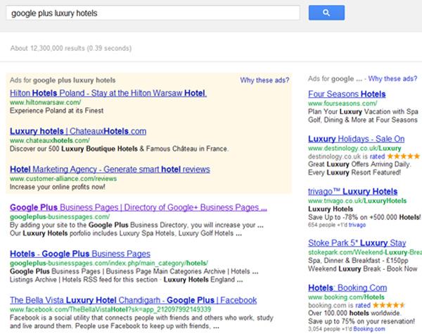 Google Plus Luxury Hotels