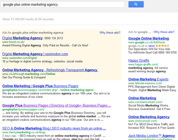 Google Plus Online Marketing Agency