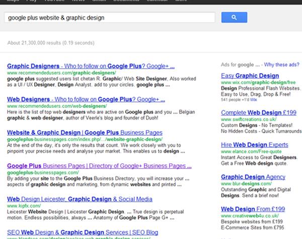 Google Plus Website & Graphic Design
