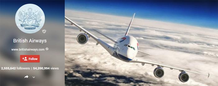 british airways google plus brand page