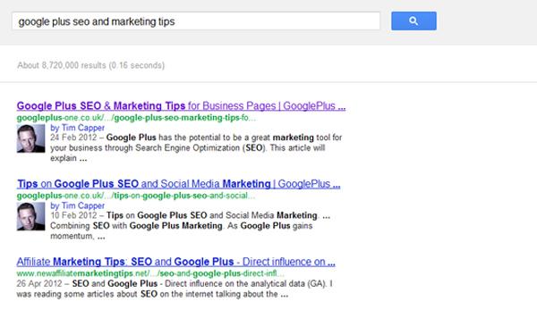 google rel=author tag