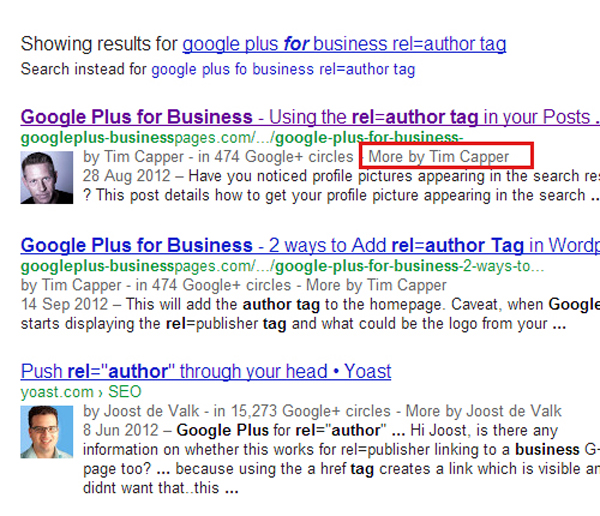 more by authors in serp