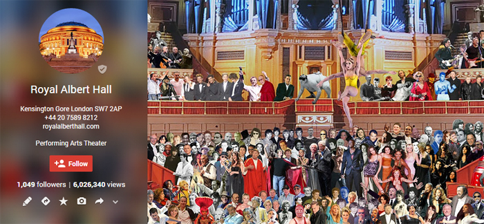 royal albert hall google plus page