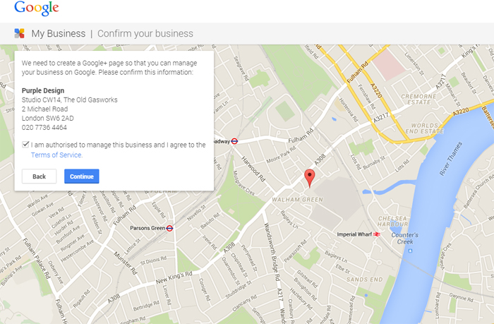 Google Local Business Select