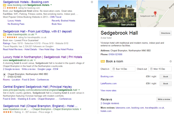 Hotels in Northampton Local Search