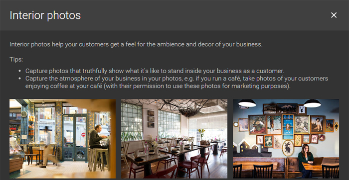 Google Business Page - Interior Photos