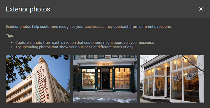 Google Business Pages - Exterior Photos