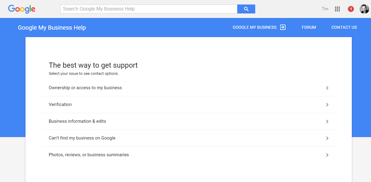 Google Business Support